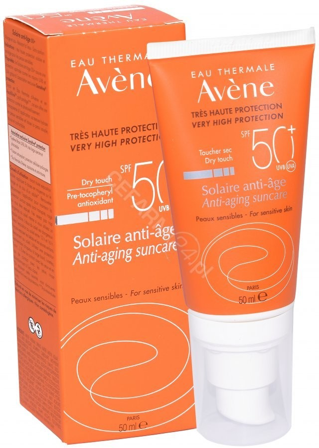 Pierre Fabre  Avene Solaire Anti-Age Krem SPF50+ bezzapachowy dla skóry wrażliwej 50 ml