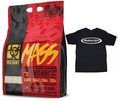 PVL Mutant Mass - 6800g + T-Shirt - MuscleTech Black
