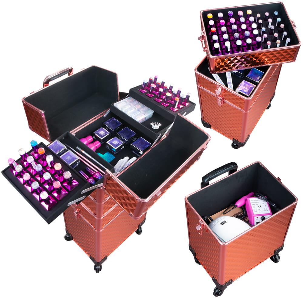 Vanity Kuferek Kosmetyczny Trolley Rose Gold 5902960342808