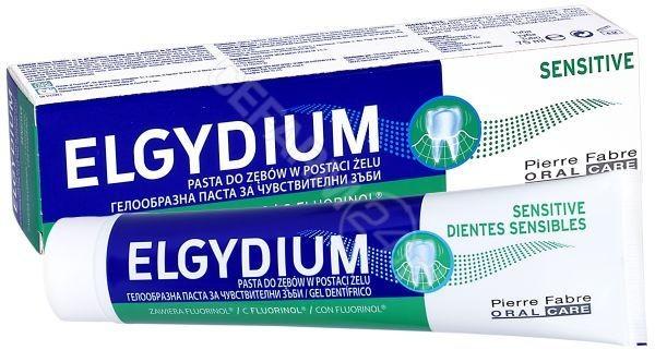 PIERRE FABRE Pasta do zębów wrażliwych elgydium sensitive w postaci żelu 75 ml