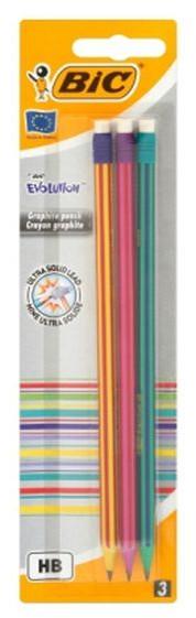 BIC Bic Ołówek HB z gumką Evolution