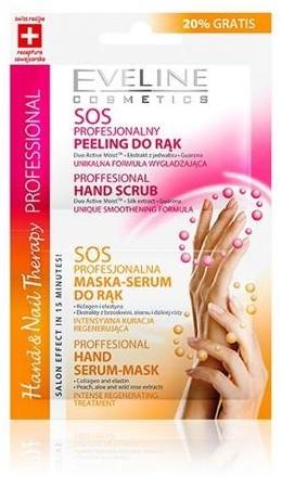 Eveline Hand&Nail Therapy SOS profesjonalny peeling do rąk + profesjonalna maska-serum do rąk 2x6ml 46992-uniw