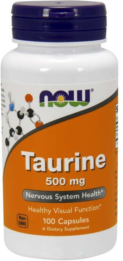 Now Foods Taurine (Tauryna) 500mg 100 kapsułek