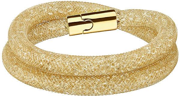 Swarovski Stardust Deluxe Bracelet Brown Gold-plated