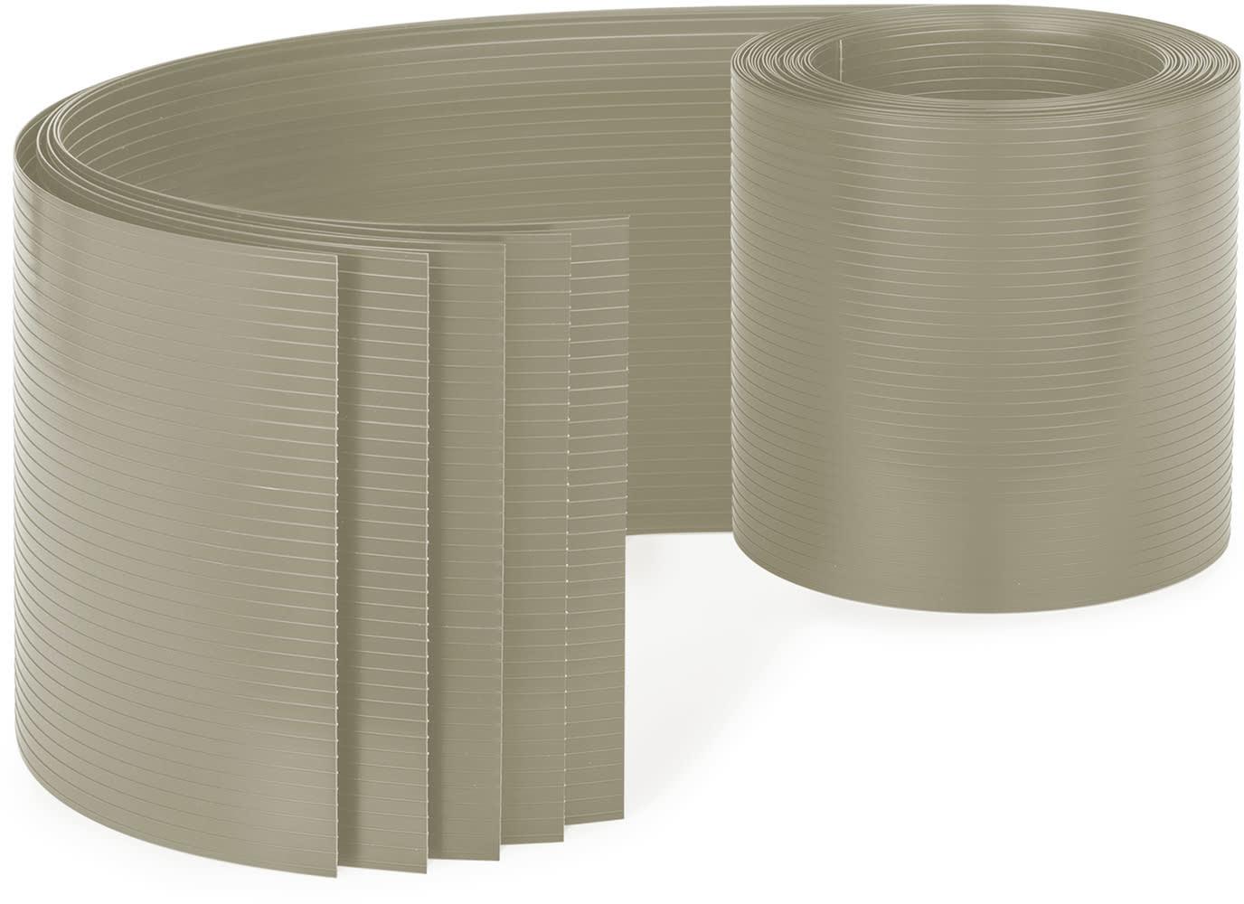Blumfeldt Blumfeldt Ogrodzeniowa osłona maskująca, PCW  twardy plastik, 2,53 x 0,19 m PVC5 Steingrau