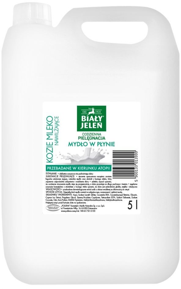 Eva Natura OSTRZESZÓW Biały Jeleń z ekstraktem z Koziego Mleka hipoalergiczne 5 l
