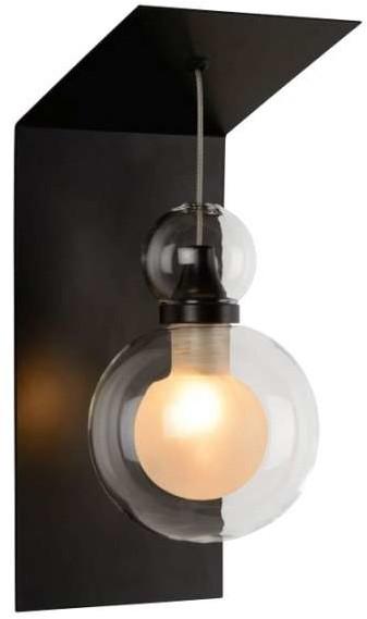Lucide LAMPA ścienna MADS 77270/01/31 modernistyczna OPRAWA kinkiet kula ball przezroczysta biała 77270/01/31