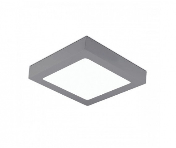 Kohl Lighting Plafon DISC SQUARE SURFACE K50231.GY.3K 3000K 12W 768lm Kohl Lighting nowoczesna lampa sufitowa K50231.GY.3K
