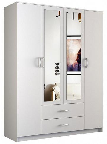 Elior Szafa z lustrem Amira 4X - biała SZAFA ROMANA LUSTRO 160cm BIEL