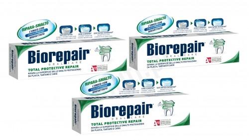 BioRepair Zestaw Biorepair Pełna Ochrona - Pasta do zębów (3x75ml) 065D-952BF