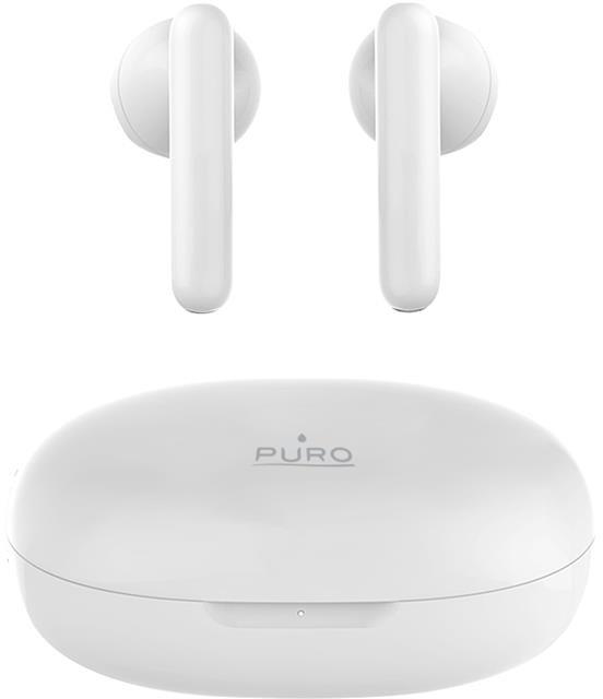 Puro PURO Slim Pod Pro TWS 5.0 - Bezprzewodowe słuchawki Bluetooth V5.0 z etui ładującym, wodoszczelność IPX5 (biały)