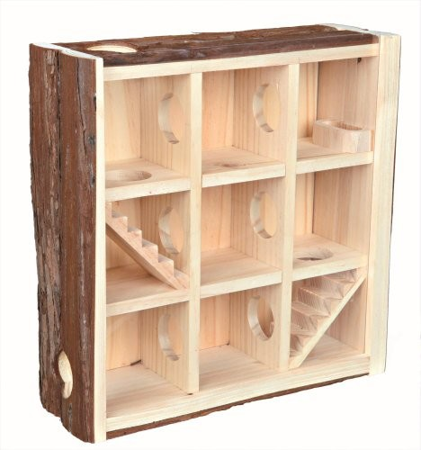 Trixie Natural Living Hamster Wieża do gier, 30 × 30 × 10 cm