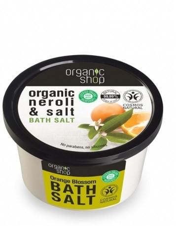 Organic Shop Sól do kąpieli Organic Neroli- Gorzka Pomarańcza 250ml OSHOP-2820