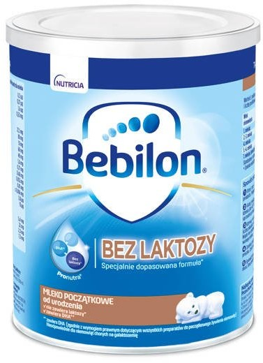 NUTRICIA Bebilon bez laktozy 400g