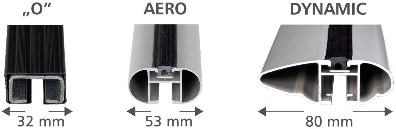 Amos Bagażnik bazowy na dach belki aluminiowe 1.2 Aero łapy Dromader D1 ZABEZPIECZENIE 1395-uniw