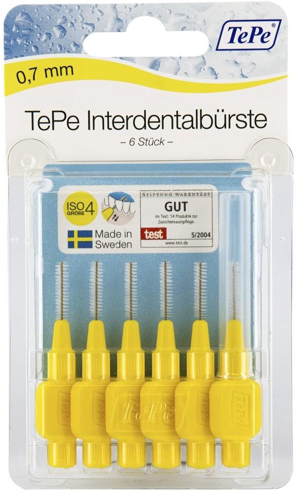 TePe D-A-CH GmbH szczoteczka międzyzębowa 0,7mm żółta 6 szt.