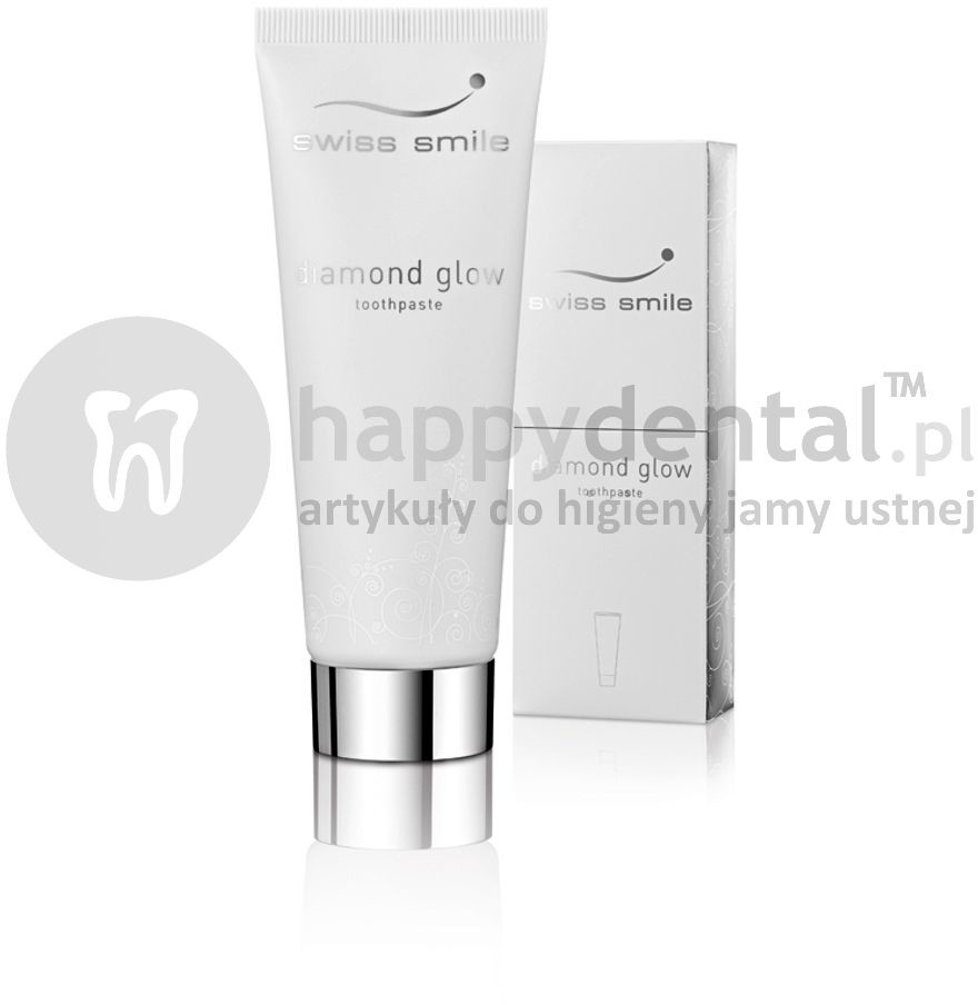 Swiss Smile SWISS SMILE Diamond Glow Toothpaste 75ml (E152) pasta wybielająca z 1 karatowym pyłem diamentowym