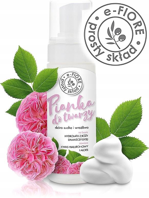 e-FIORE Pianka z różą damasceńską 150 ml