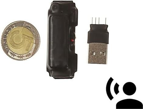 IneoTronic Mini Dyktafon szpiegowski do ukrycia MKX mini 8GB VOS 15h (Detekcja Głosu) G-09739900