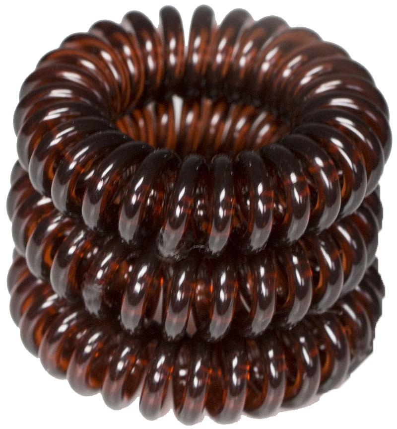 ronney RONNEY S15 MET funny ring bubble - Profesjonalne gumki do włosów 3 sztuki 3,5 cm - brązowe