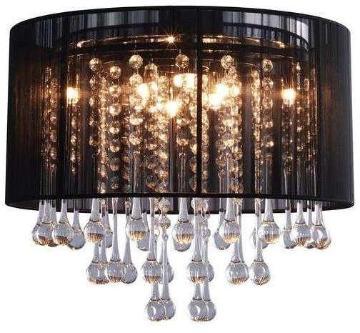 Zuma Line Glamour LAMPA sufitowa VERONA RLX92174-8B okrągła OPRAWA klasyczny PLAFON glamour czarny przezroczysty RLX92174-8B