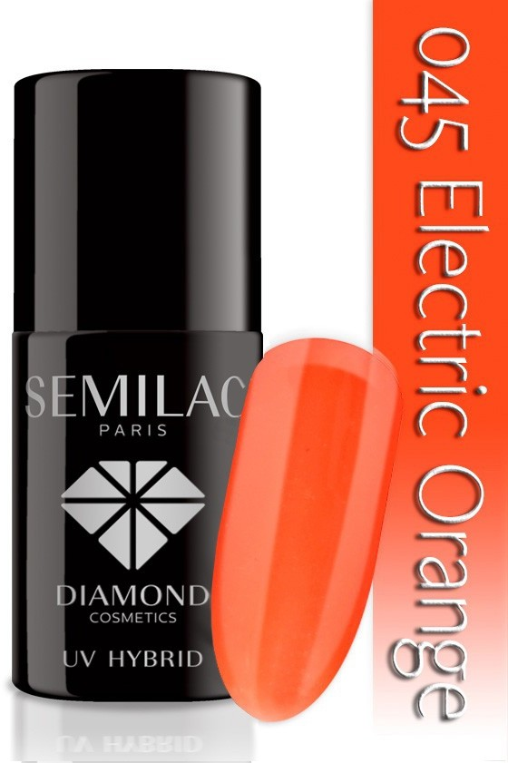 Semilac Lakier Hybrydowy Semilac 045 Electric Orange - 7 Ml 4760