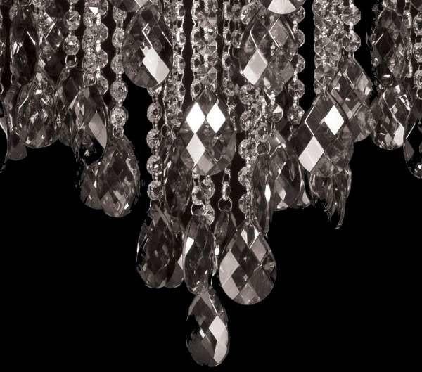 Inne Żyrandol LAMPA wisząca VEN W-E 0705/6 kryształowa OPRAWA pałacowy zwis grafitowy VEN W-E 0705/6