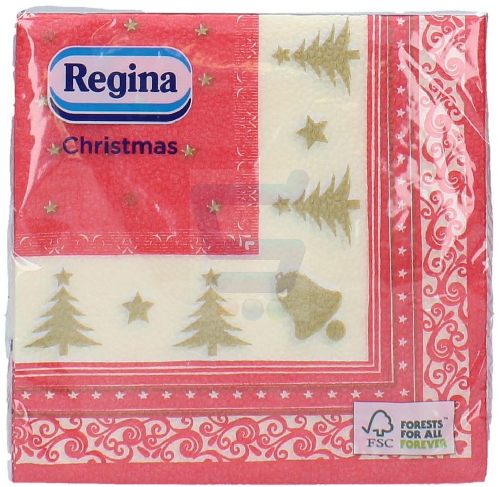 Regina Christmas Serwetki Czerwono Złote 20 szt.