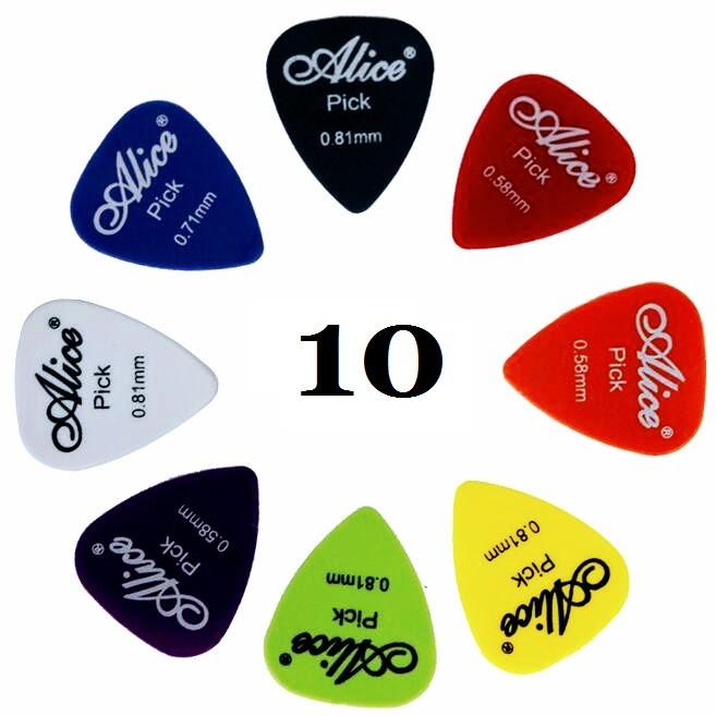 Alice Kostki gitarowe 10 Szt kostka do gitary Mark