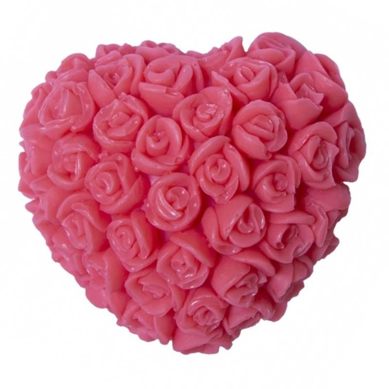 LaQ LaQ Mydełko glicerynowe Serce w różyczki - czerwone  1 szt 40g
