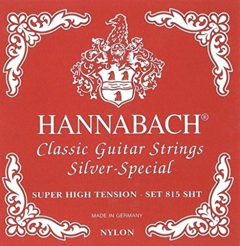 Hannabach 652549 Struny do gitary klasycznej Seire 815 Super High Tension Silver Special - 3-częściowy dyskotek 652549