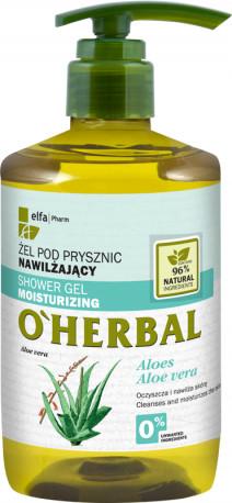 Green Pharmacy Pharm O'HERBAL NAWILŻAJĄCY ŻEL POD PRYSZNIC Z EKSTRAKTEM Z ALOESU 750 ML