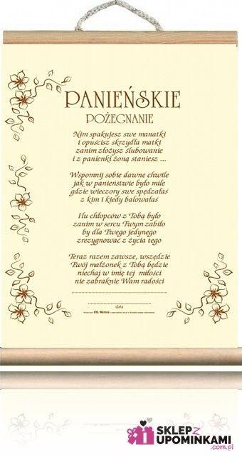 Opinie o Dyplom Życzenia Wieczór Panieński Ecru 1711