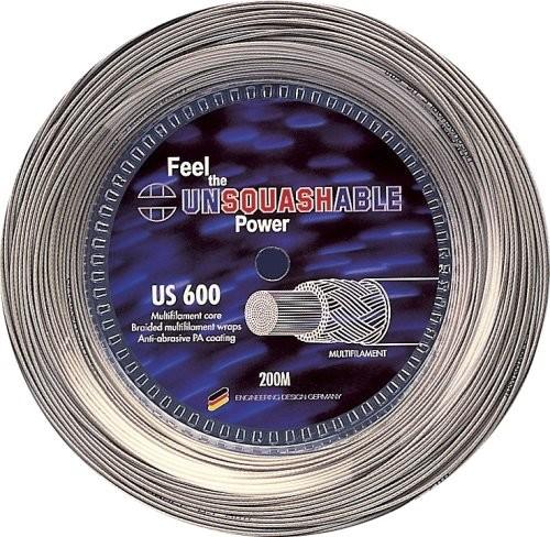 Unsquashable power US 600 rakieta do squasha gitary, srebrny, długość 200 m 381203_silber-1,2 mm