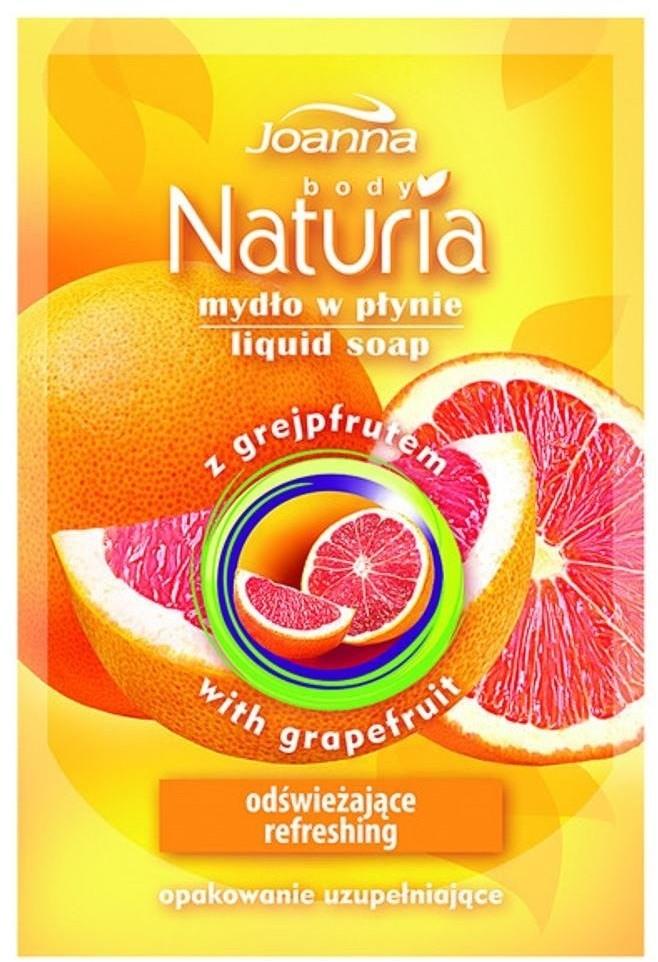 Joanna Naturia Body Liquid Soap mydło w płynie Grejpfrut zapas 300ml 69604-uniw