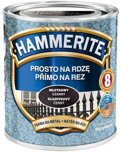 Hammerite Farba do metalu Prosto Na Rdzę młotkowy czarny 0 25 l