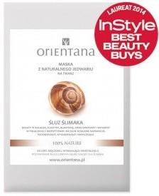Orientana Anna Wasilewska Maska z naturalnego jedwabiu na twarz Śluz ślimaka 1 sztuka 7058563