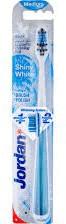 Jordan Shiny White Szczoteczka do zębów Medium niebieska 170101 N