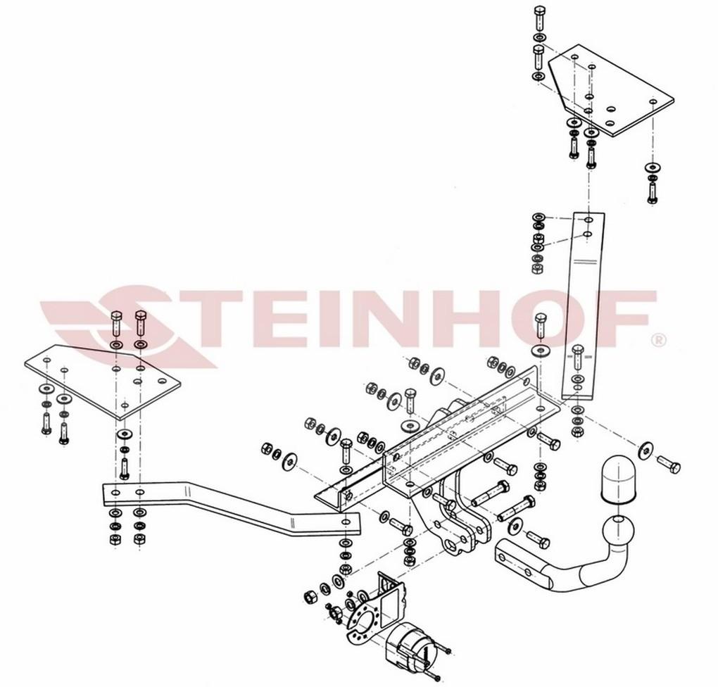 Steinhof Hak holowniczy Steinhof V-282 Volvo V50 2004 - 2012 706-uniw
