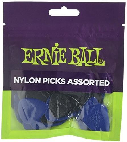 Ernie Ball Nylonowe kostki o różnej grubości (średnia, ciężka) torba 50 sztuk P09134