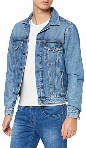 Pepe Jeans męska kurtka dżinsowa Pinner - kurtka jeansowa XS PM400908WG5-000