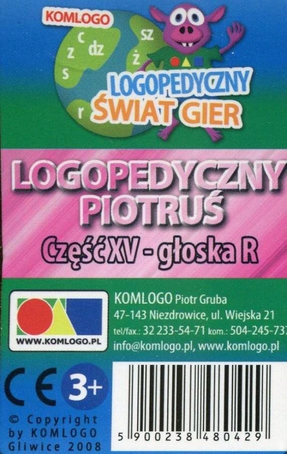 Komlogo Komlogo, karty Logopedyczny Piotruś Część XV: głoska R