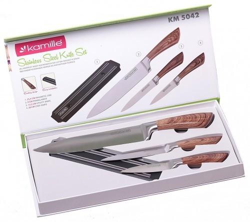Kamille Komplet noży listwa magnetyczna 4 el. 5042