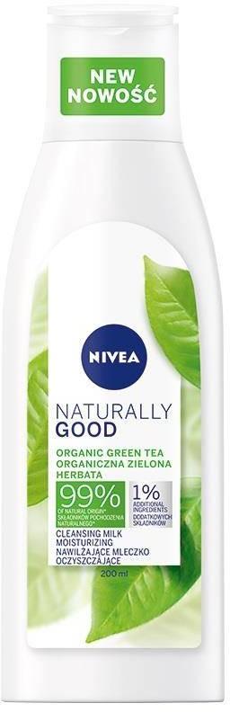 Nivea Naturally Good Cleansing Milk nawilżające mleczko oczyszczające do twarzy 200ml