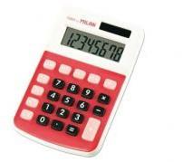MILAN Kalkulator 8 pozycji mały czerwony