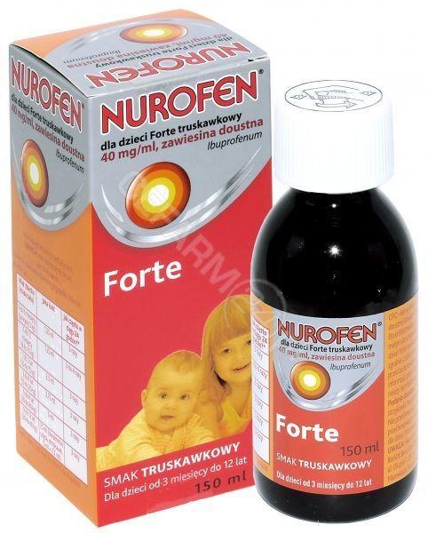 RECKITT BENC Nurofen dla dzieci forte zawiesina 40 mg/ml o smaku truskawkowym 150 ml