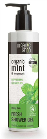 Organic Shop Mint & Lemongrass Refreshing Shower Gel orzeźwiający żel pod prysznic z ekstraktem z mięty 250ml 42947-uniw