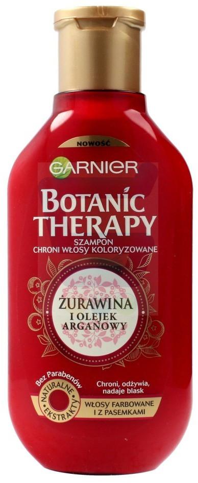 Garnier Botanic Therapy Żurawina i Olejek Arganowy Szampon do włosów farbowanych i z pasemkami 250 ml
