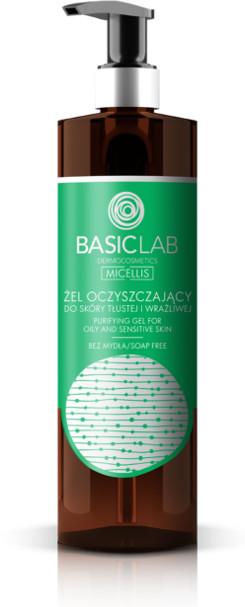 BasicLab BasicLab MICELLIS Żel oczyszczający do skóry tłustej i wrażliwej 300ml 47389-uniw