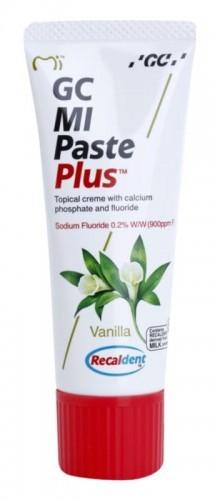 GC MI MI Paste Plus Vanilla remineralizujący krem ochronny do wrażliwych zębów z fluorem pasta wanilia